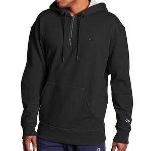 Champion powerblend fleece quarter zip hoodie